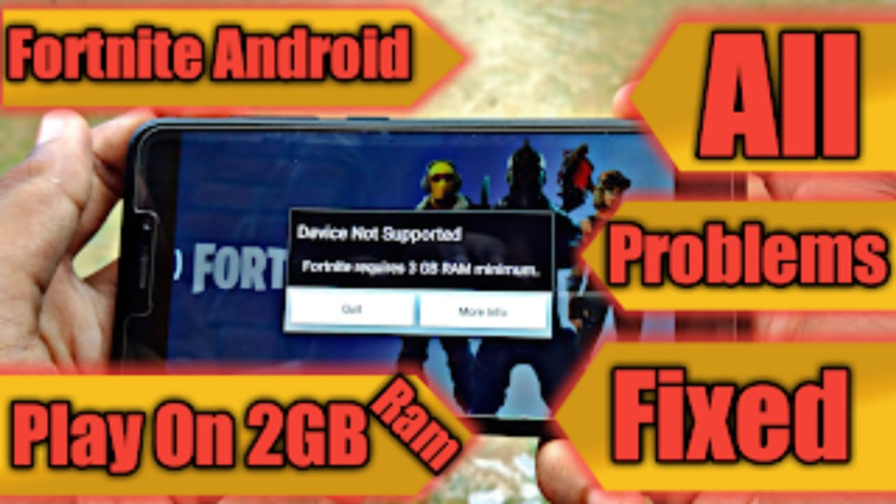 [Fixed] Fortnite Android All Problems 'Device Not ...
