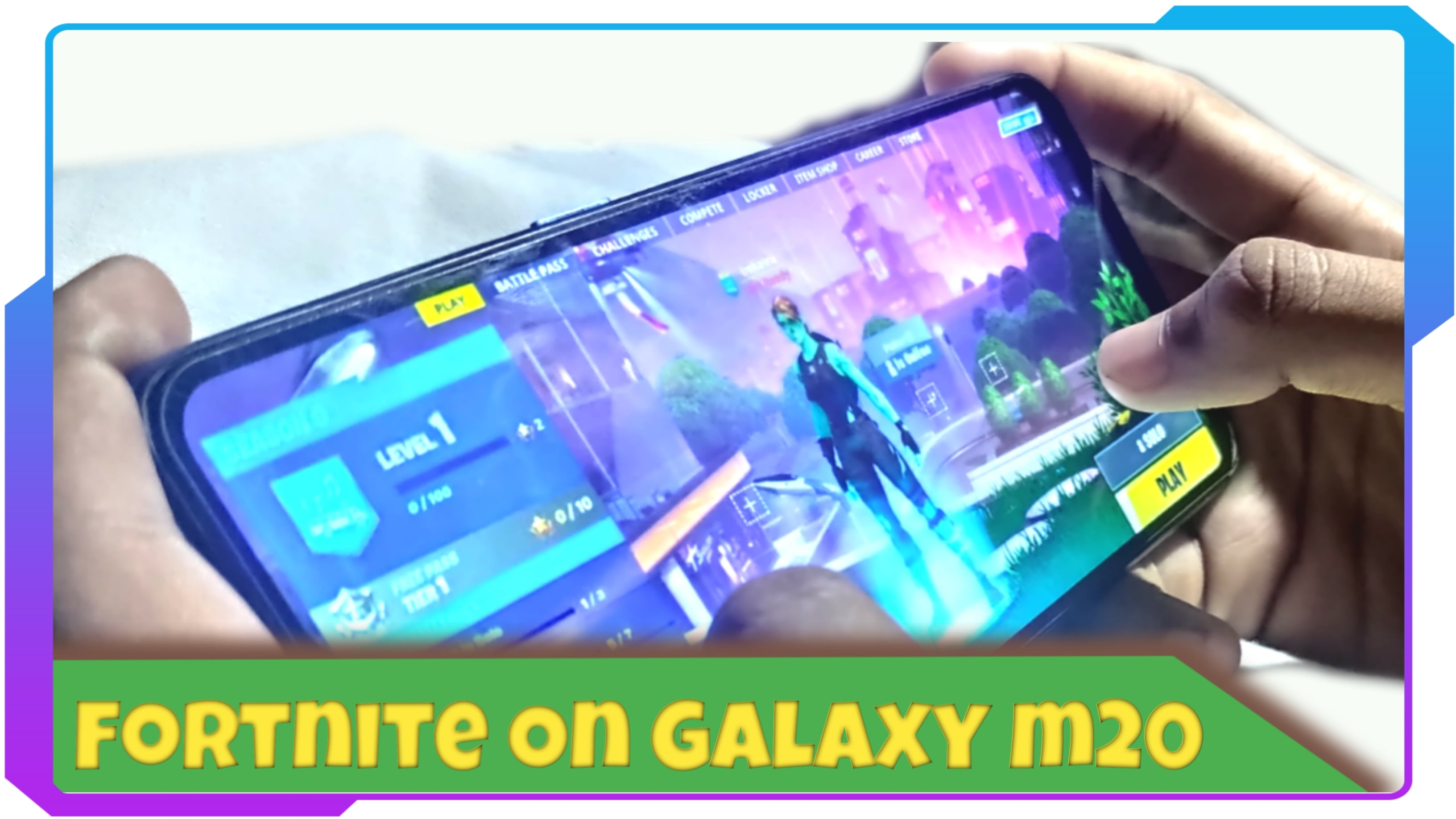 Fortnite on Galaxy m20