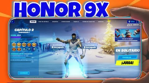Fortnite on Honor 9x