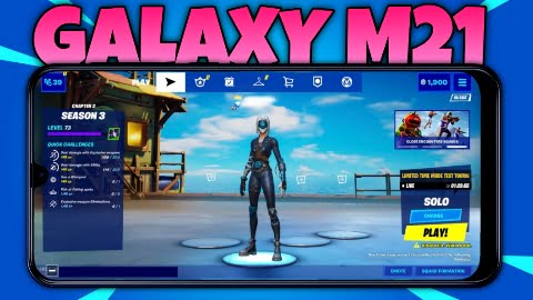 Fortnite on Galaxy m21